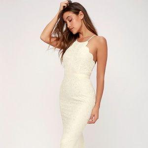 Lulus | Zenith Cream Lace Maxi Dress Sz. S
